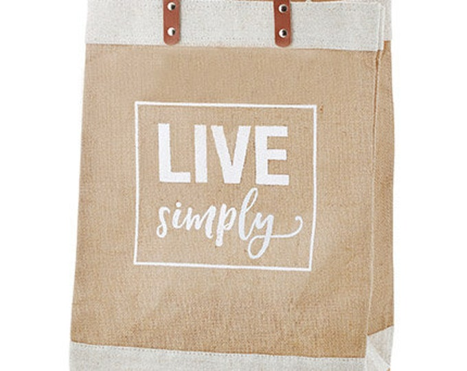 Market Tote- Live Simply