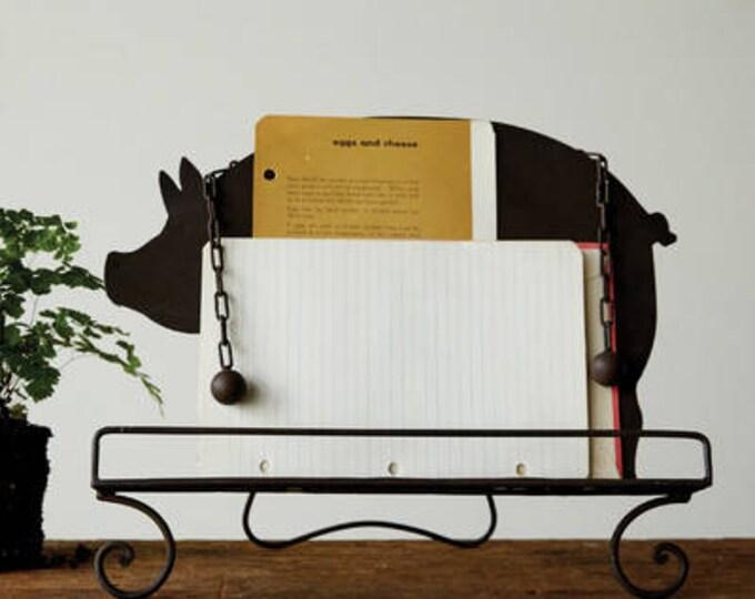Metal Pig Book Holder