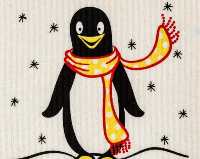 Winter penguin swedish cloth