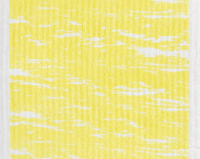 Waves Yellow Swedish Cloth