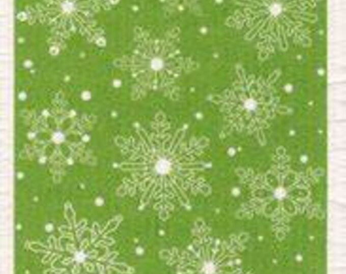 Green snowflake swedish cloth