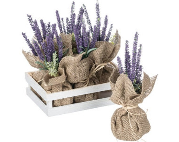 Burlap Wrapped Tall Lavender