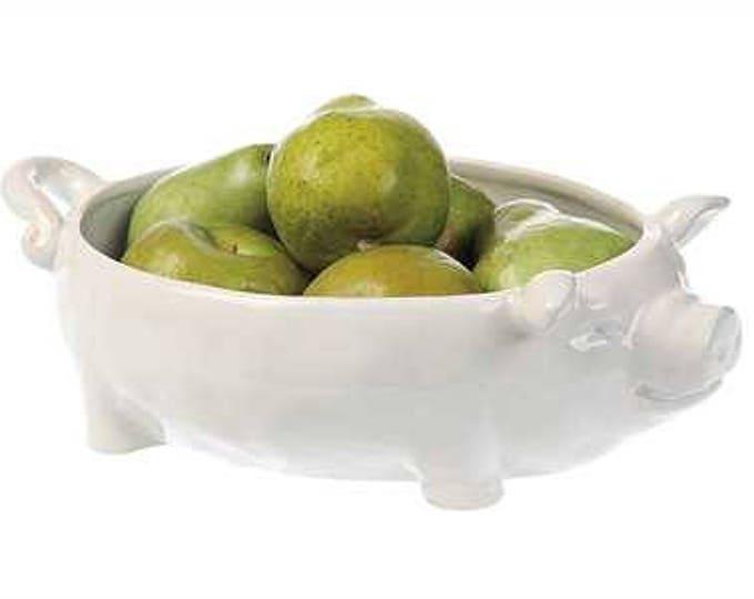 Stoneware Ceramic Pig Bowl