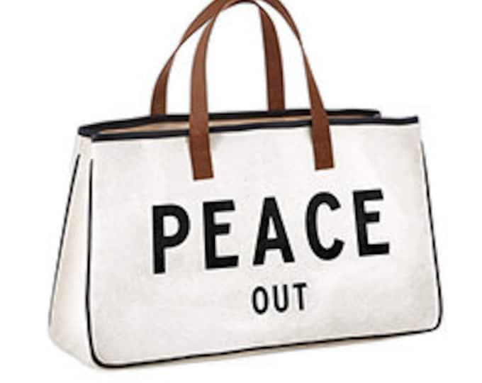 Peace out canvas bag