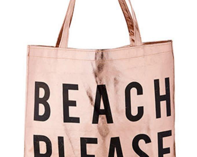 Platinum Tote - Beach Please