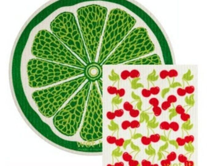 Cherry Limeade Swedish Cloth Set