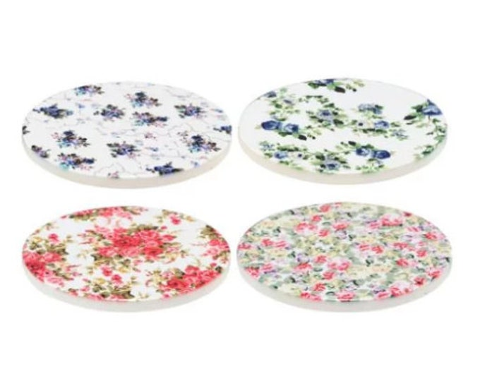 Round Floral Coasters