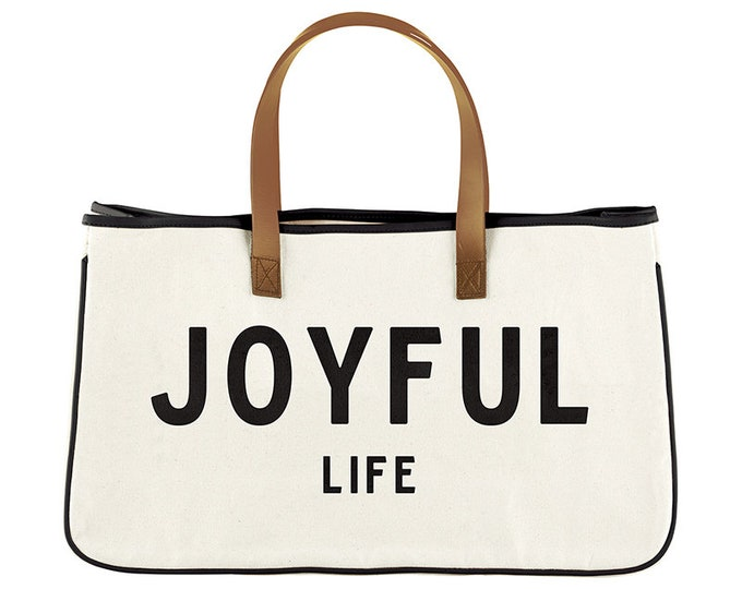 Canvas Tote- Joyful Life