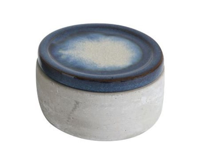 Cement & Ceramic Lidded Box