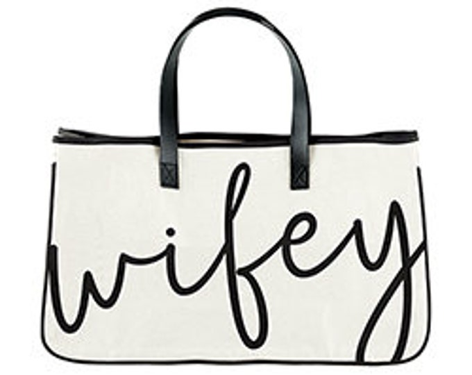 Wifey canvas tote, wedding gifts, bridal shower