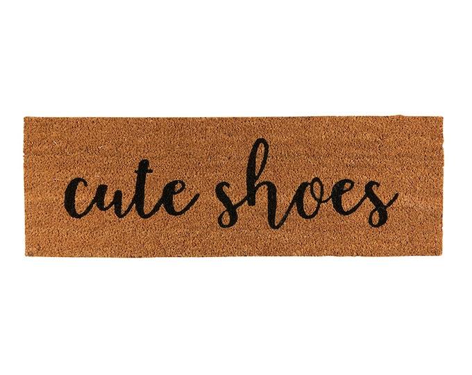 Cute Shoes- Doormat, Coir Doormat, Decorative Rug, Outdoor Funny Doormat
