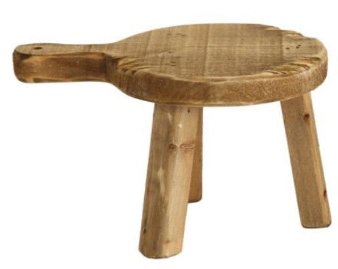 Round Wood Pedestal