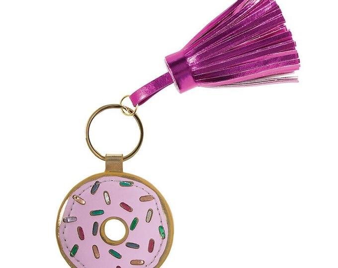 Donut Keychain, Keychain, Donut Key Holder, Key Ring