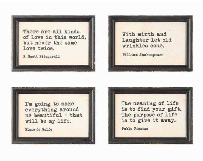 """9""""x6"""" Framed Quotes"""