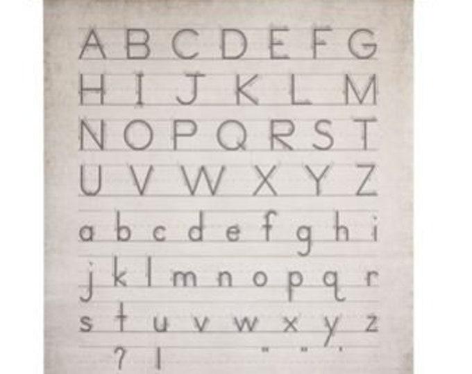 Alphabet & Numbers Canvas on Jute Hanger