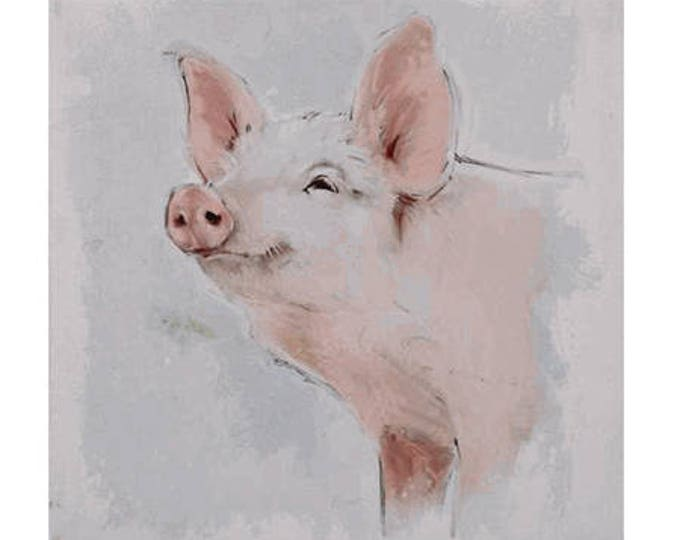 "Pig Canvas - 18"""