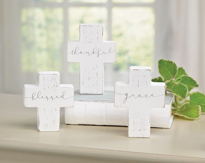 Small Wooden Cross Sitters