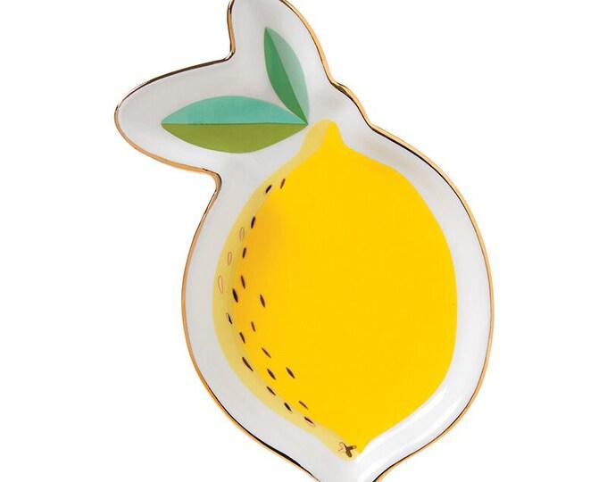 Lemon Trinket, Jewelry Dish, Table Decor,
