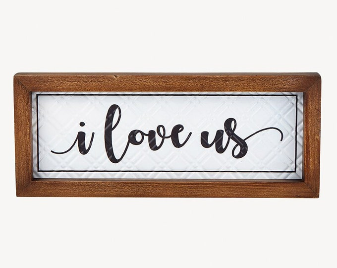 I Love Us Wall Art, Thankful Wall Art, Home Decor, Wedding Gift Idea, Wall Decor