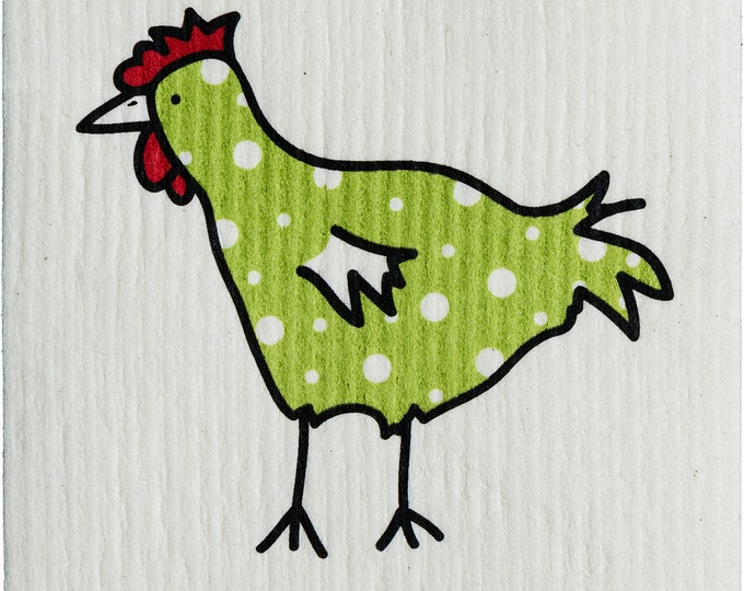 Green Chicken Swedish Cloth