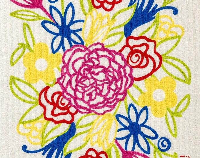 Flower Bouquet Swedish Cloth