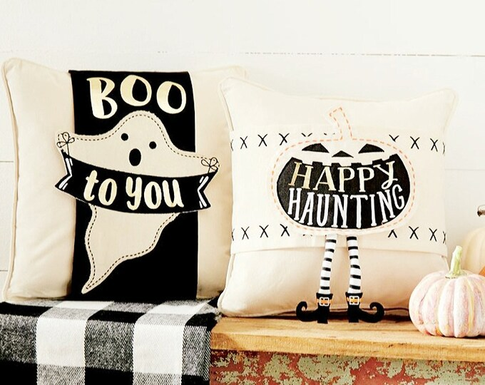 Mud Pie Set of Two Pillow Covers Halloween