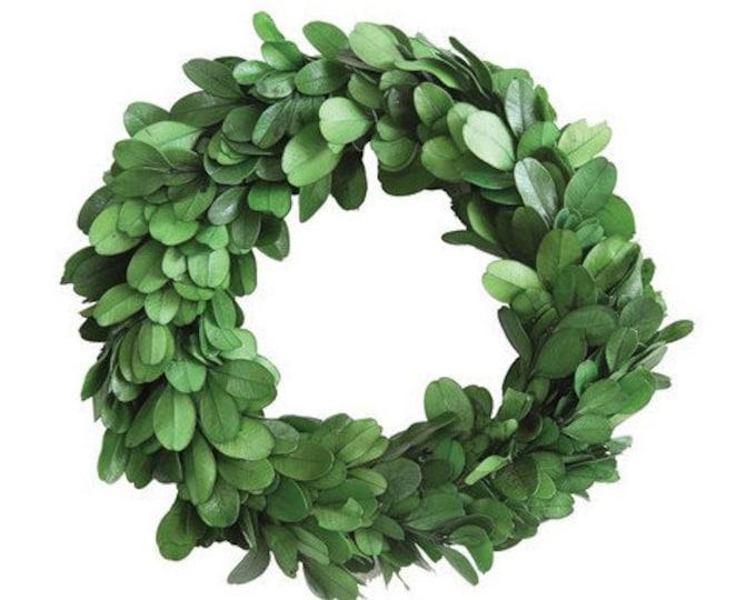 "6"" Round Preserved Boxwood Wreath"