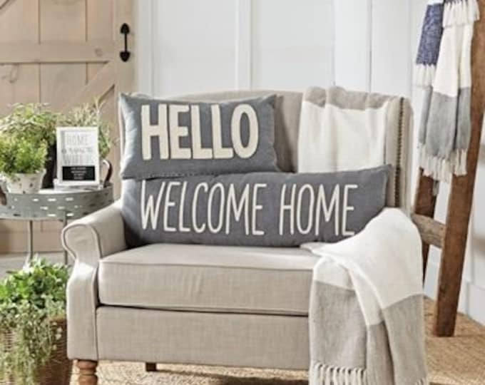 Washed Canvas Home Pillows