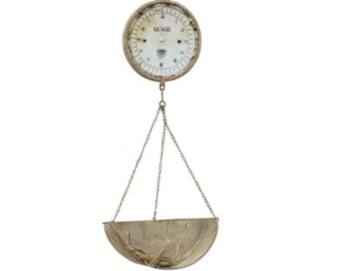 Reproduction Hanging Produce Scale Clock
