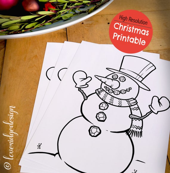 CHRISTMAS DIGITAL PRINT Christmas Coloring & Activity