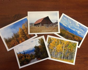 Photo greeting cards etsy blank greeting cards photo greeting cards greeting card set landscape photography colorado souvenir colorado photo fall decorfall art m4hsunfo