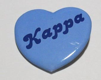 """Pins -- """"Kappa Kappa Gamma"""" Large Heart Pin"""