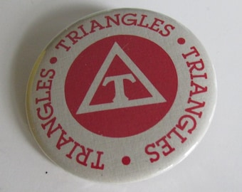 Phi Mu Mountain Triangle 2.25-inch Button