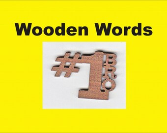 wood letters wooden word 1 bro peel stick