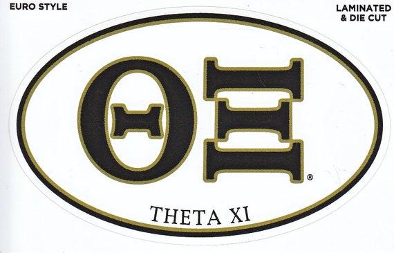 Theta Xi  Vintage Decal Set of 2