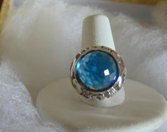 Blue Topaz Ladies Ring For All Blue Topaz Lovers, December BDS., Proms, Weddings, Garden Party, Cruises, Mothers Day, Great Gift For A Lady