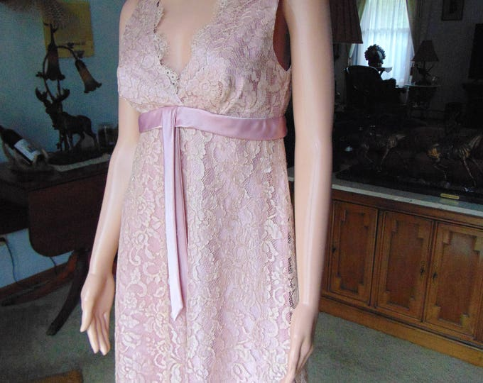 60's  Pink Lace Dress Fashion For Cruises, Holidays, Proms, Weddings, Western Dancing, Kentucky Derby, Cocktail Parties, Gallery Openings