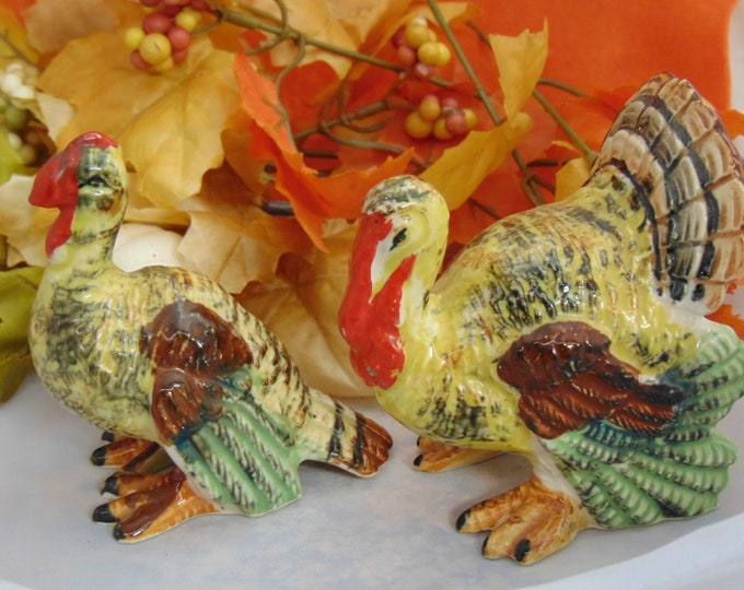 Vintage Turkey Salt & Pepper Set, Thanksiving Decor, Turkey Collectors, Thanksgiving Table Settings, Fall Party Table Settings, Turkeys,