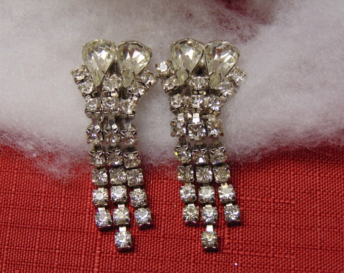 50's Rhinestone Earrings, Western Dance Earrings, Wedding Earrings, Cruise Earrings, Holiday Earrings, Rodeo Earrings, Chairty Ball Earrings