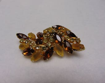 50's Topaz Brooch Fashion For Fall Parties, November Birthdays, Thanksgiving, Traveling, Western Dancing And More