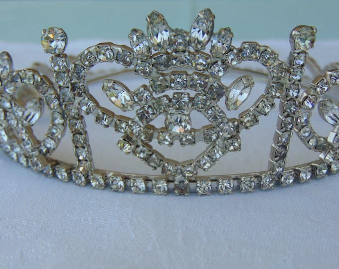 Rhinestone Tiara, Prom Queen Tiara, Miss USA Tiara, Weddings Tiara, Miss World Tiara, Rhinestone Tiara, 50s Tiara, Vintage Tiara