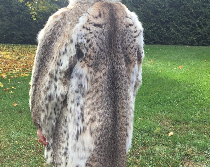 Lynx Stroller Fur Jacket-Ladies Lynx Jacket-Fur Stroller Coats-Unisex Fur Stroller-Western Fur Stroller Coat-Resort Lynx Fur Coat-Lynx Coats