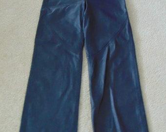 Sz 5 Ladies Black Leather Pants-Ladies Biker Pants-Small Black Leather Pants-Leather Horseshow Pants-Western Leather Pants-Leather Pants