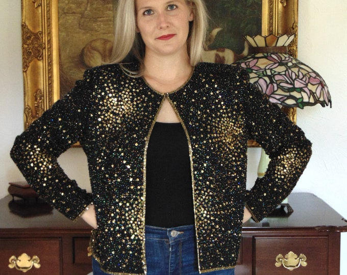 Sequin Bolero- Shrug For Rodeos,Horse Shows,Derbies,Western Dances,Gallery Opening,Operas,Weddings,Holidays,Cruises,Musicals,,Charity Balls,