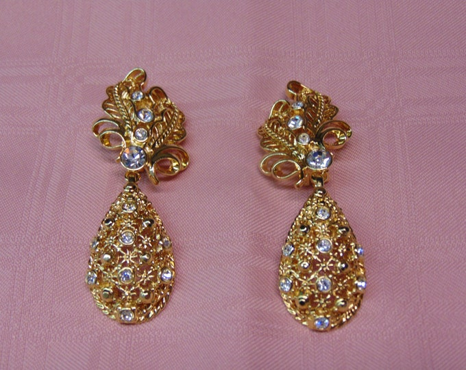 Jose Barrerra Drop Earrings For Weddings,Church,Operas,Theater,Gallery Openings,Rodeos,Dinners,Dances,Derbies,Parties,Art Shows,Concerts