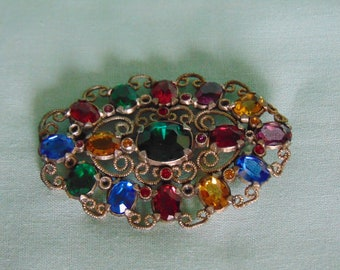 Multi Colored Brooch Art Nouveau Fashion For Nov., May, And July Birthdays  Office Casual, Dinner Parties, Derbies And More