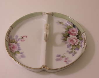 Hand Painted Nippon Handled Serving Dish For Holidays, Parties, Special Occasion Dinners, Tea Parties, Card Club, Bridge Night, Collectors