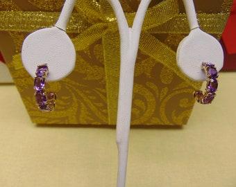 Amethyst Earrings For February Birthdays-Valentines Day-Amethyst Gifts- Amethyst Jewlery-Western Dance Earrings-Opera Earrings-Dinner Earing