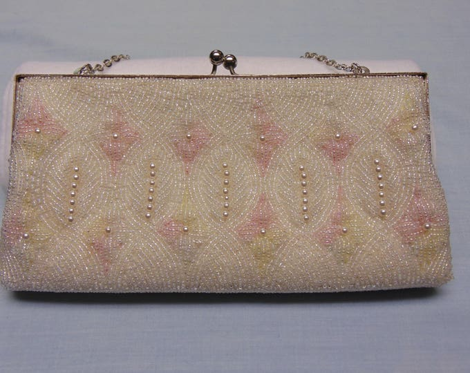 Beaded Evening Purse 50s Fashion For Proms, Weddings, Showers, Graduations, Easter, Mothers Day, Derbies, Dinners And More