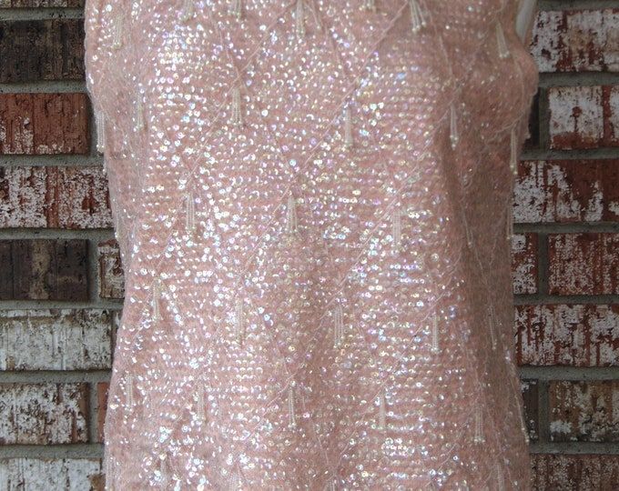 Coral Pink Ladies Sequin Top For Rodeos,CountryClubs, Church, Dinners Parties,Western Dancing, Art Shows,Gallery Openings, Operas, Derbies